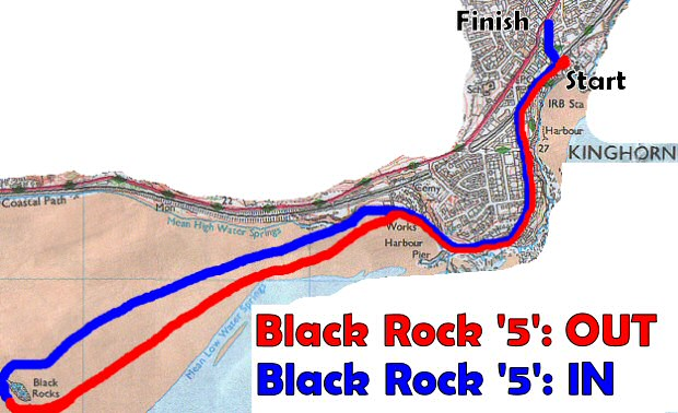 Black Rock '5' Race course map